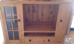 TV Cabinet / Entertainment Unit, solid timber