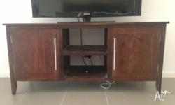 Hardwood TV Unit, purchased new 18months ago for $1400