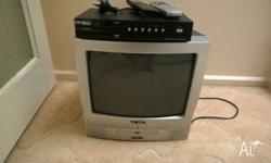 TV with built in DVD player and Set top box. TV � DVD
