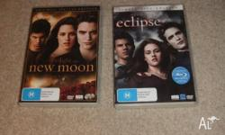For Sale - Twilight New Moon and Twilight Eclipse DVDs,