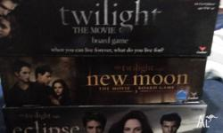 Twilight, New Moon, Eclipse board games hardly played,