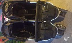 VALCO TWIN PRAM EXCELLENT CONDITION NO STAINS OR RIPS