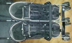 Baby Club twin stroller $20. Includes boot and