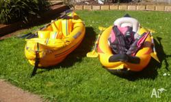 i have two 2 persons inflatable kayaks for sale, both