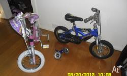 In GC, two boy and girl bikes. ages from 2 to 5 yrs.