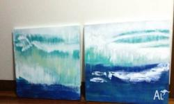 ABSTRACT ARTWORKS I am offering for sale TWO pieces of