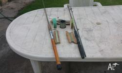 Two fishing rods and some line In good condition Phone