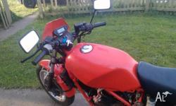 two honda vt250f 1985 one in bits but still ran when