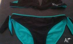 Wave Zone two piece swimmers Reversable Green & Black