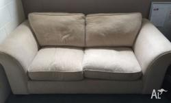 Cream, good condition fold out sofa bed. Spring