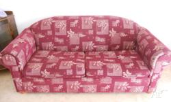 Two seater sofa with fold out double bed, in good