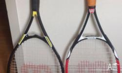 Hi I'm selling my Wilson tennis racquets in very good