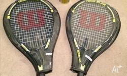 I am selling 2 x Wilson Tour Slam Tennis Racquets with