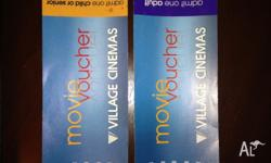 I have two Village Cinemas movie vouchers to sell