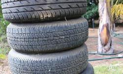 195/75 R14 tyres and rims to suit Ford, 5 stud. Two
