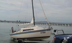 YACHT IS IN LOVELY COND. COMPLETE WITH 2MAIN SAILS