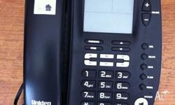 Black uniden home phone for sale.