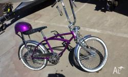 american low rider bike never ridden, custom painted in