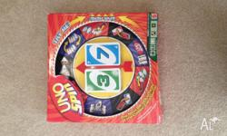 For sale is a Uno Spin board game. Card set is complete