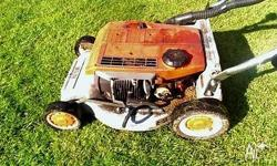 Aged pensioner will pick up your old mowers and other