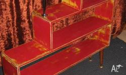 "On offer is this fabulous ""one off"" red and yellow room"