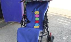 Upright Buggy with Protective Canopy - Brand New -