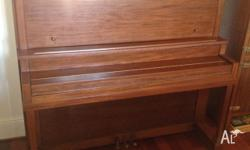Piano in good condition but needs tuning. Made by the