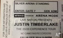 Selling 1 Ticket Silver Arena Standing For Friday,