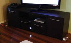 URGENT SALE! Chocolate Laminate TV Cabinet & Coffee