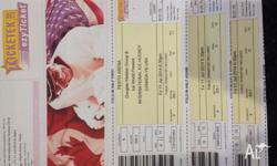 3 x tickets to the USA v's Canada ice hockey game