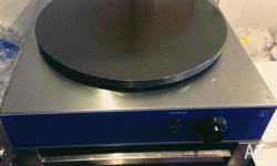 Used 3months old heavy duty crepe maker Details on the