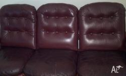 used sofa for sale. 3-1-1 seat full lether .pickup