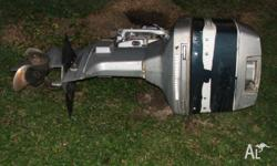 V4 Evinrude was running when came off boat. Has