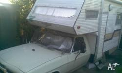 hx v8 camper,pwr steer,350 holly,3 way fridge,gas