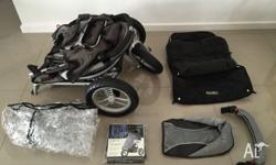 Valco Baby Runabout Tri-Mode Pram. Comes with Sleeping