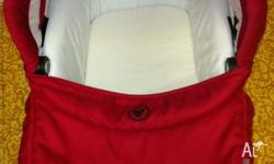 Bassinet fitting (Red) with adjustable visor and