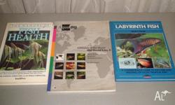 Various Aquarium Books. $15. Pick up from Hawthorn.