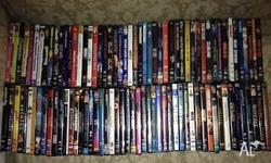 I am offering 100 DVD's for sale in one lot . Various