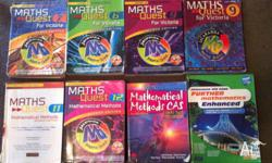 Various Mathematics Textbooks from high school.