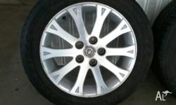 Set of 4 Statesman rims and tyres for sale. All tyres