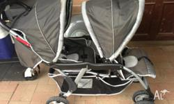 Double take two child pram. Great condition. First to