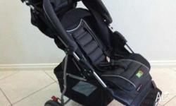 Easy to navigate, easy to fold. Stroller was hardly