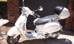 2005 Vespa GT200L model NSW regd. UBL-95, pearl white
