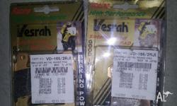 2 Pairs of Vesrah RJL Brake pads, awesome pads for road