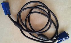 FOR SELL 2 METER VGA CABLE FOR COMPUTER DISPLAY, IT'S
