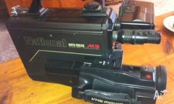 'NATIONAL' M3 VHS VIDEO CAMERA IS IN EXCELLENT