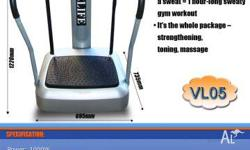 Title: VIBRATION MACHINE VL05 with exercise bands Short
