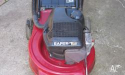 victa 2 stroke mower & grass catcher in good working