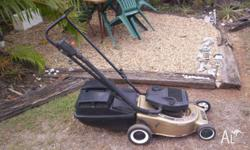 Victa 2 stroke mower with catcher - Statesman model