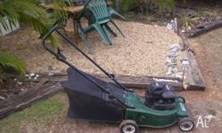 Victa 4 stroke mower with catcher. Briggs and Stratton